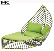 elegant outdoor swimming pool aluminum frame woven pe rattan chaise sun bed lounge