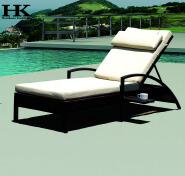 Outdoor garden sun Lounger rattan wicker furniture aluminum lounger Patio cane garden outdoor lounge