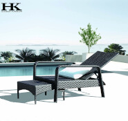 New design combination swimming pool chaise sun loungers outdoor rattan furniture