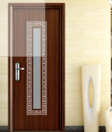 WPC interior doors with glass inserts