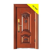 XSF Low Price kerala steel door main steel door powder coated safety steel door design for wholesale