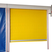 Security insulated automatic quick roller shutter screen door for commercial garage