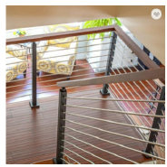 stainless steel square pipe railing simple balcony modular stainless steel railing design