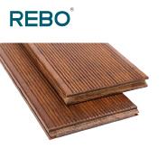Strand woven bamboo deck flooring