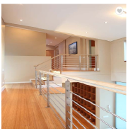 wood handrail stainless steel square pipe patio railing modern cement balcony railing designs