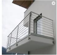 JBD indoor stair railings banisters black metal deck balusters for staircases