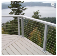 stainless steel pipe balcony railing price per meter with high quality
