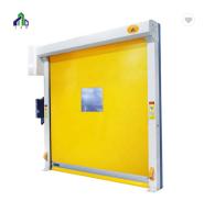 Fluorescent Yellow PVC High Speed Warehouse Door Automatic Fast Door for Logistics
