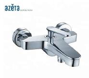 Bathroom Fittings Wall Mount Brass Chrome Single Handle European Bath Faucet