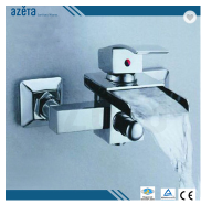 China Online Shopping Sanitary Fittings Single Lever Wall Mounted Chrome Brass Waterfall Bathroom Ba