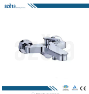 Import China Goods Wholesale Beauty Chrome Plating Wall Mounted Bathroom Bath Shower Tap