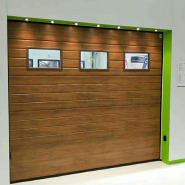 electric galvanized steel commercial garage doors