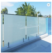 10mm Milky Tempered Glass for Balcony Stair Railing Greehouse good Price from Shandong China
