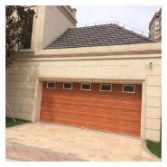 cheap solid wood overhead sectional garage door exterior