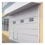 China Cheap garage door with pedestrian door with single layer
