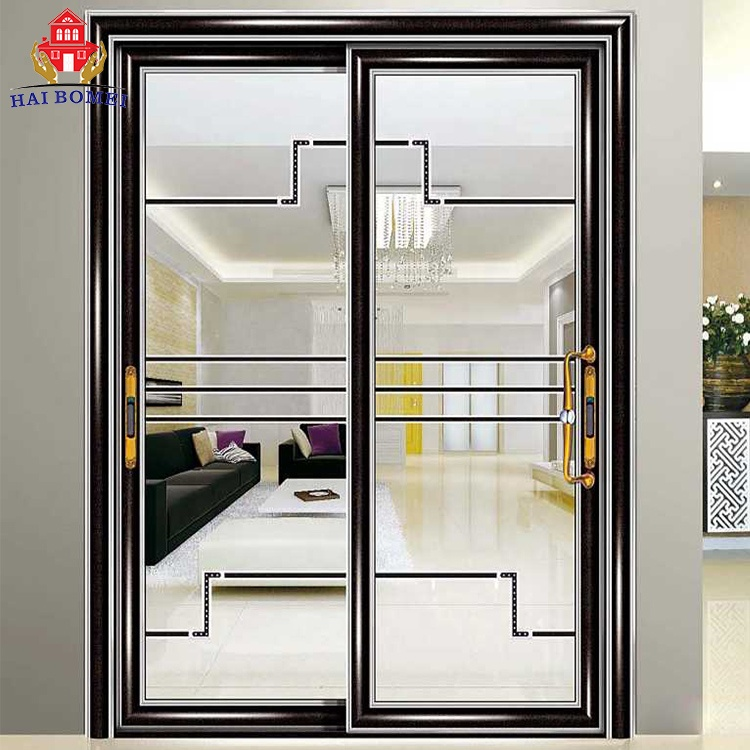 Beautiful color tempered glass sliding doors for balcony