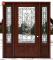 High Technology Finished Front Wooden Doors with Insert Glass