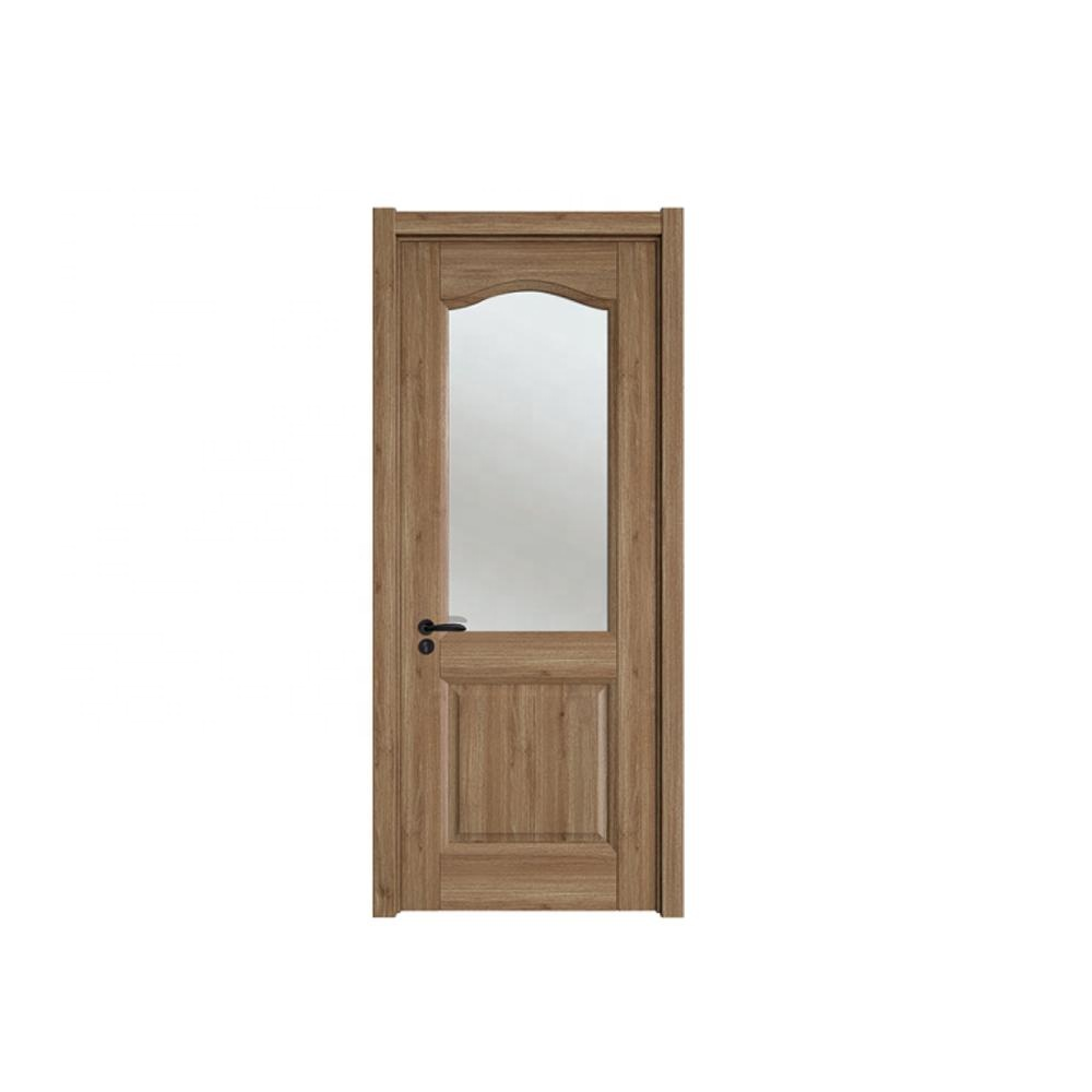 Wholesale wooden panel Glass assembled interior apartment solid entrance doors