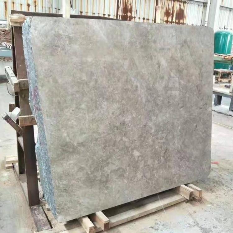Manufacturer Natural Grey Stone Marble Supplier Big Slab Project
