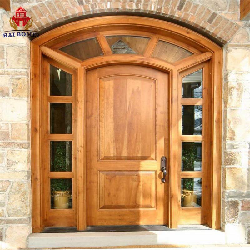 BOMEI factory Wooden doors In Kerala Wooden Arch Doors Designs Wooden door models for sale