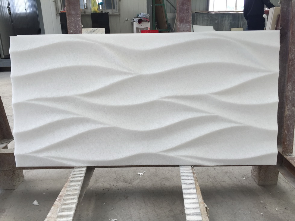 Polished Natural Greece Thassos White Marble Carving Stone