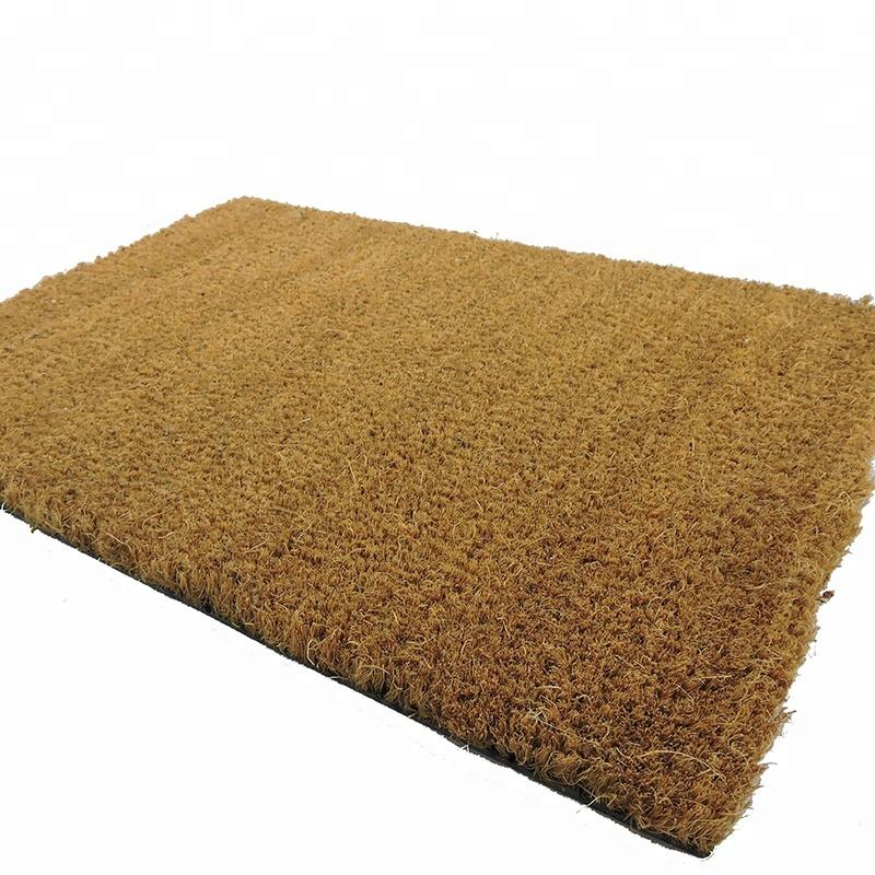 New Arrival Plain Natural Coco Fiber Dust-Proof Outdoor Floor Mat Coir Welcome Door Mat