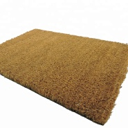 New Arrival Plain Natural Coco Fiber Dust-Proof Outdoor Floor Mat Coir Welcome Door Mat