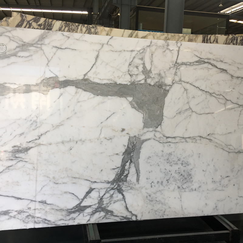 Polished Marble Tile Natural Stone Calacatta White