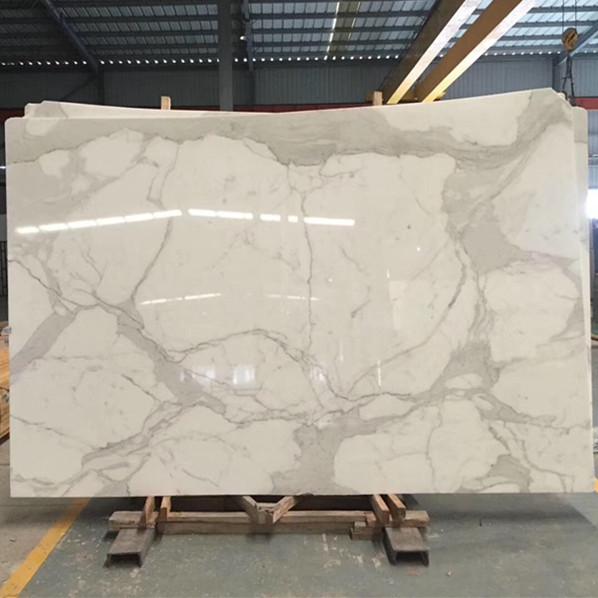 Polished Marble Slab Calacatta White Natural Stone