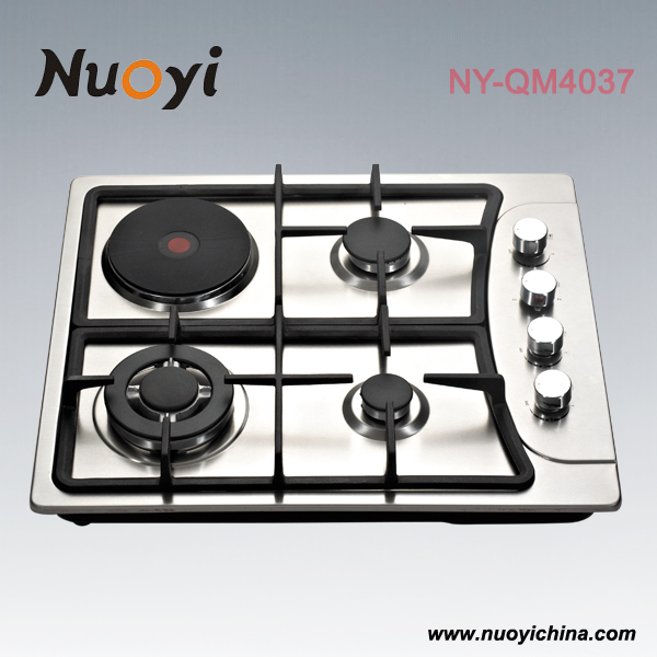 Stainless steel gas electric hotplate