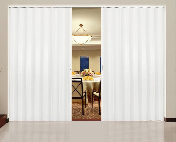 PVC wardrobe folding accordion door