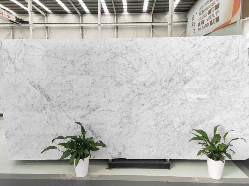 Polished Natural Stone Carrara White Marble for Interior Decoration
