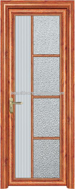 Free Designs Pattern Single Swing Aluminum Alloy Doorsfor bathroom