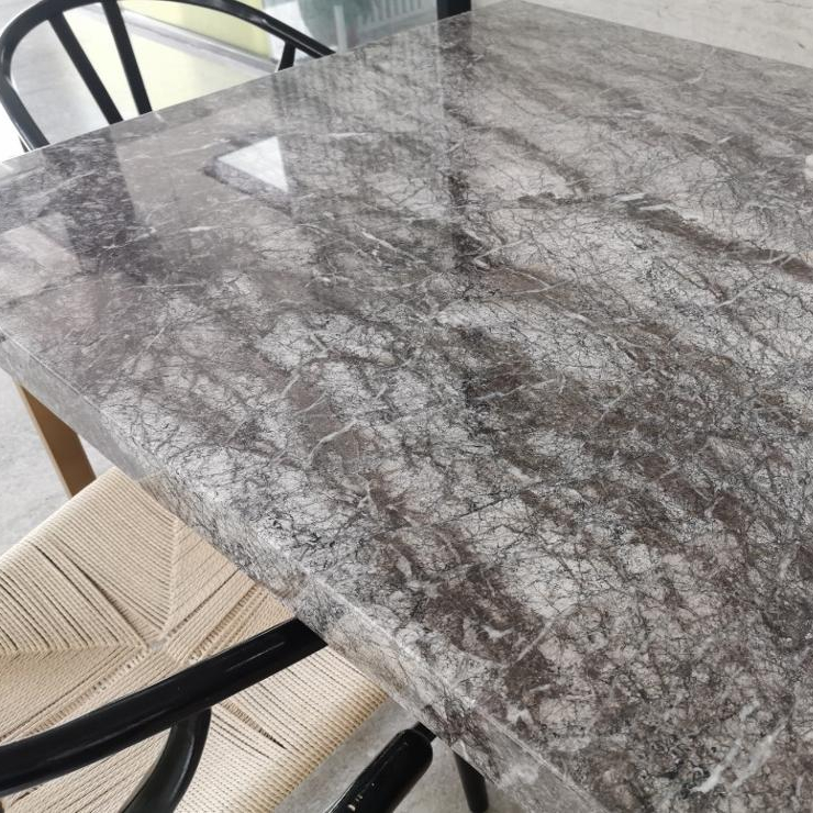 Natural Dark Grey Teffery Marble Supplier CounterTop