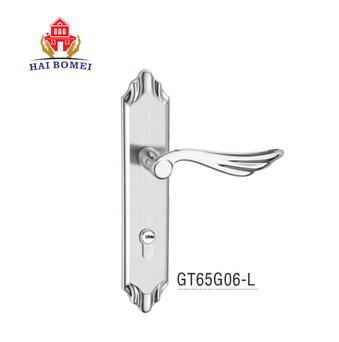 Znic alloy new sample bedroom door handle lock set