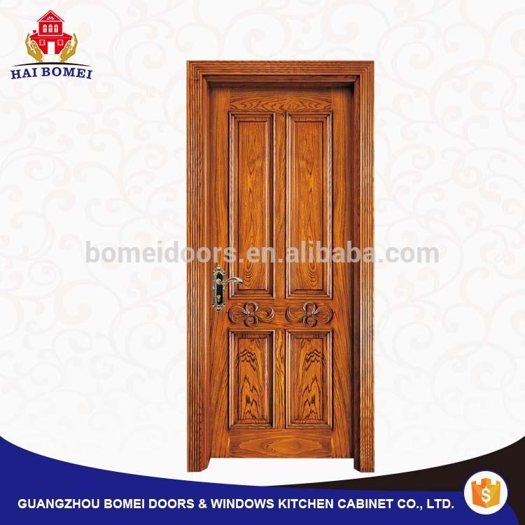 Interior high quality fancy wood door antique indonesian luxury teak wood door design