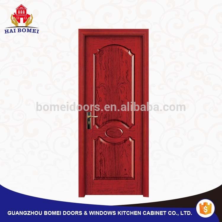Solid oak and teak wood room door