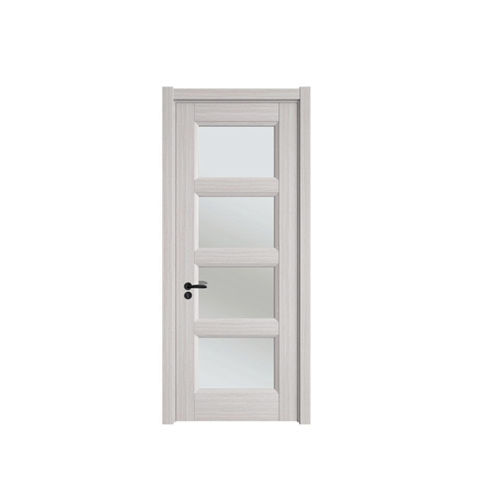 Wholesale latest design office door with glass window interior wooden door room door