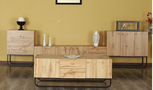 2019 New Design Home Furniture Arc metal Shape frame Living Room Cabinet Modern Wooden Locker Cabine