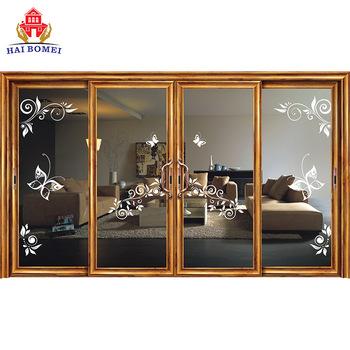 2019 China aluminum alloy 4 door glass sliding doors for safe