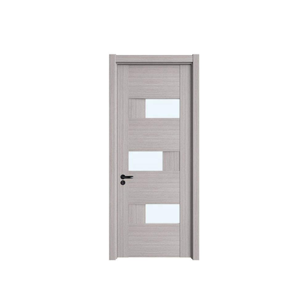 Wholesale high quality new design apartment interior fire rated wooden panel glass door