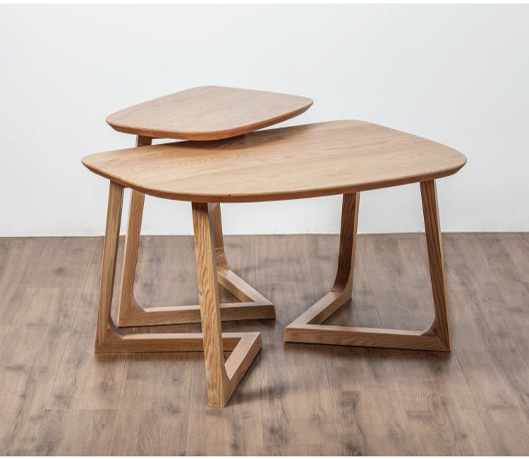 Modern Birch End Table Side End Table For Living Room