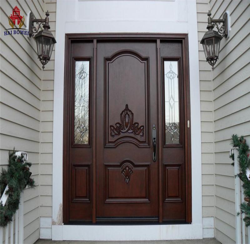 2018 Swing Front Double Door Design with Insert Glasses