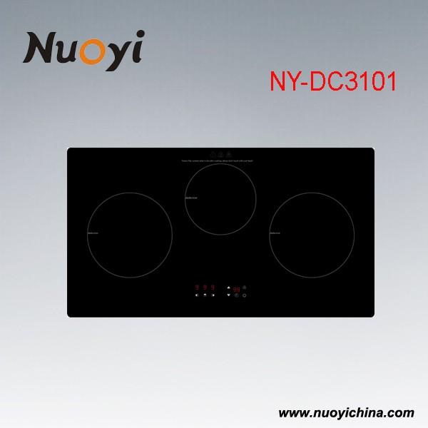5 Burners Black ceramic Glass Panel Gas Stove Gas Hob