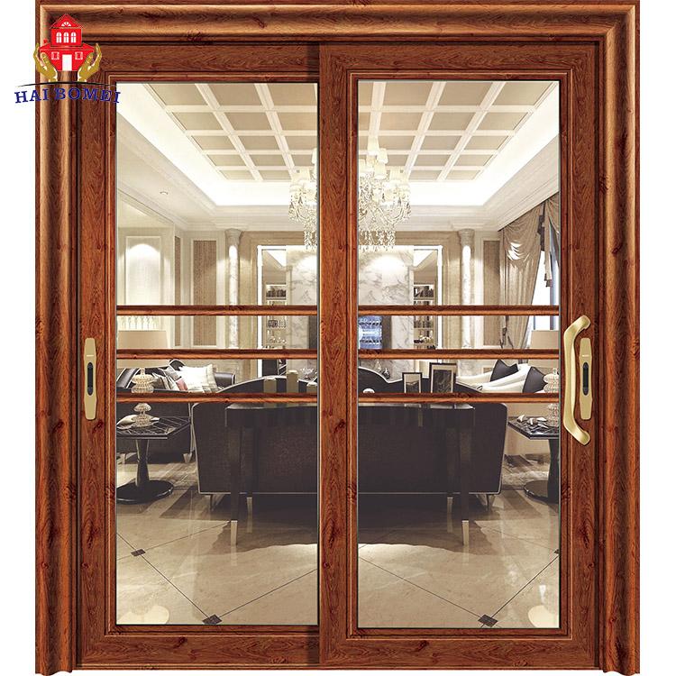 China Supplier latest design double leaf aluminium front door designs