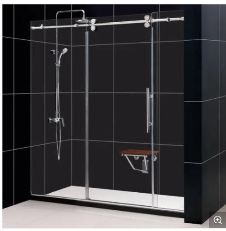 304 Stainless Steel Frameless Sliding Glass Door/12mm Sliding Glass Door