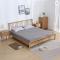 Solid wood double bed 1.5/1.8M Bedroom White oak Minimalism Modern Northern Europe Windsor Bed
