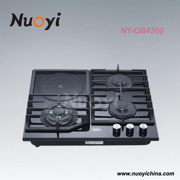 60cm 4 burner 3 gas 1 electric cooktop stove