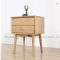 Solid wood night table brass handles lockers oak modern cloud end bedstand