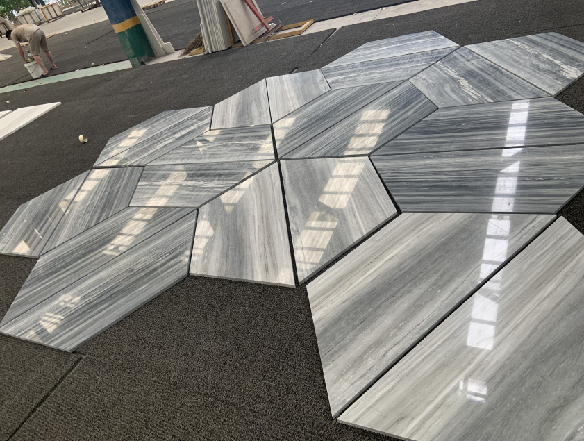 Polished Natural China Palissandro Blue Marble Floor tile